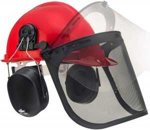 NoCry 6-in-1 Industrial Forestry Safety Helmet and Hearing Protection System