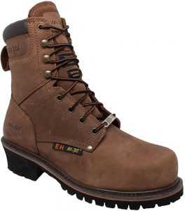 AdTec 9 Inch Super Logger Boots for Men, Insulated 100% Waterproof Steel-Toe Safety Work Boots for Men